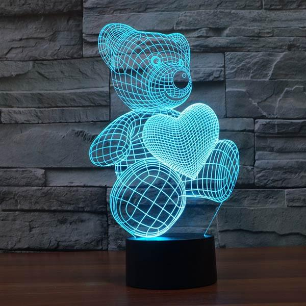 Just A Energy Efficient 2d Led Lamp But Looks Like A 3d Bulb Tricking Your Eyes And Making Your Place Look Plain Night Light Kids Baby Night Light 3d Led Lamp
