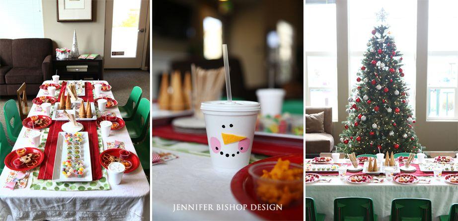 Charming Toddler Christmas Party Ideas Part - 14: Childrenu0027s Christmas Party-Jennifer Bishop Design ...