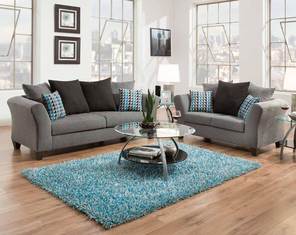 Sottile Gray Sofa U0026 Loveseat | American Freight