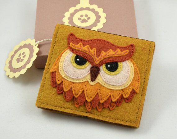 Felt Owl Needle Book ( Sewing Needle Case )