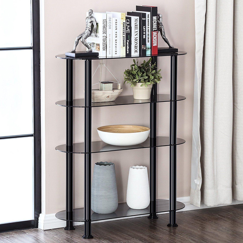 Free Standing Glass Display Shelves