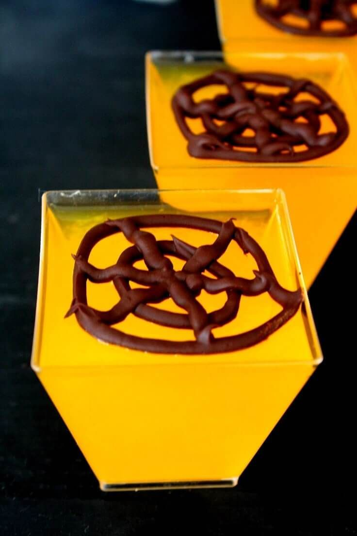 Chocolate Spider Web Jellies Kids Halloween Party Dessert ...