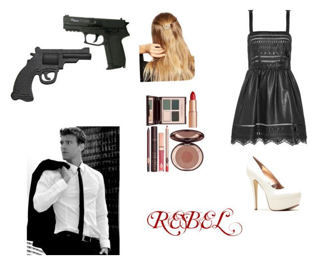 """""""Rebel"""" by itsmesammieee ❤ liked on Polyvore featuring ASOS, Charlotte Tilbury and Valentino"""