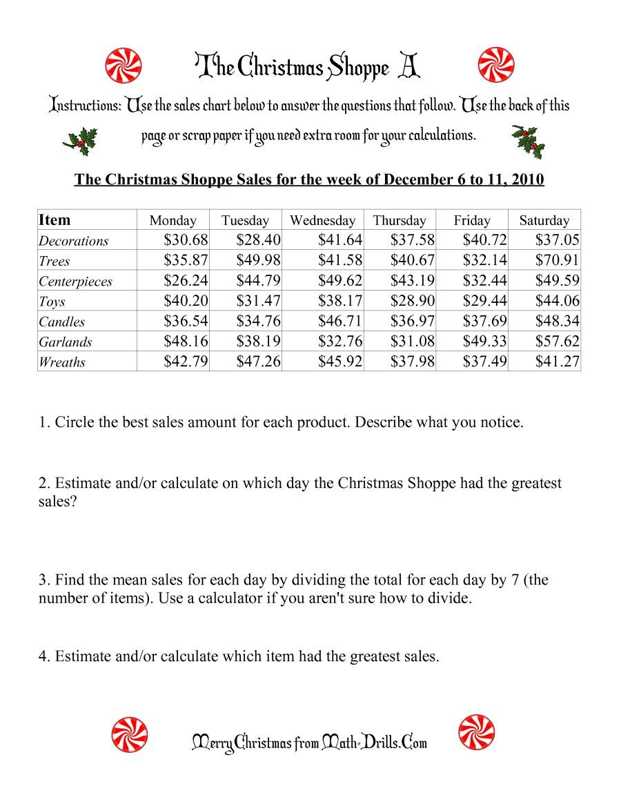 The The Christmas Shoppe Numbers Under 100 A Math Worksheet From The Christmas Math Worksheets Pa Christmas Math Worksheets Math Worksheet Math Worksheets