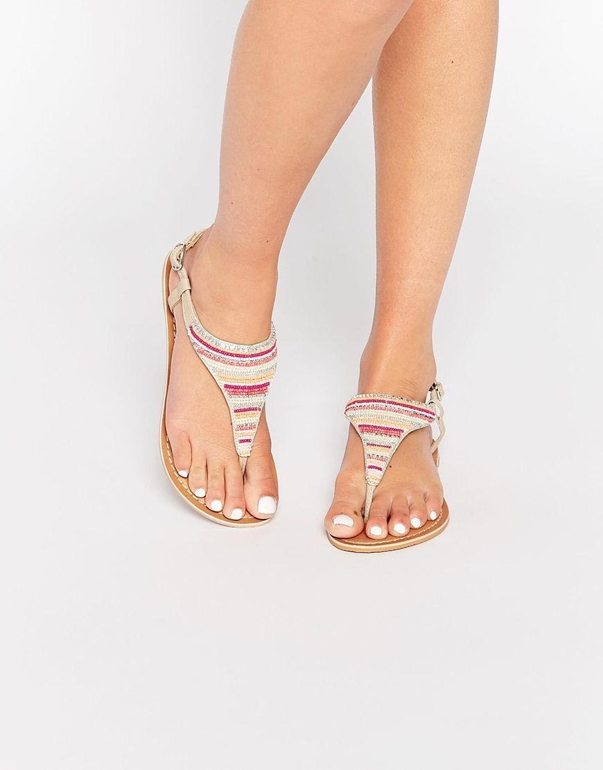 New Look Beaded Sandal at asos.com