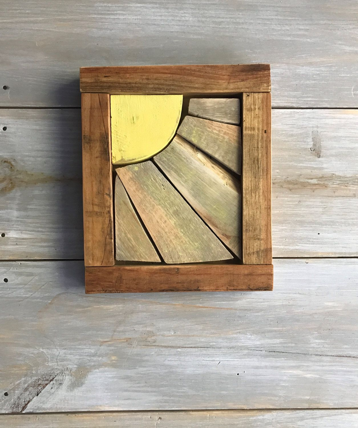 Rustic Sun Wall Decor By Therustictoolbox On Etsy