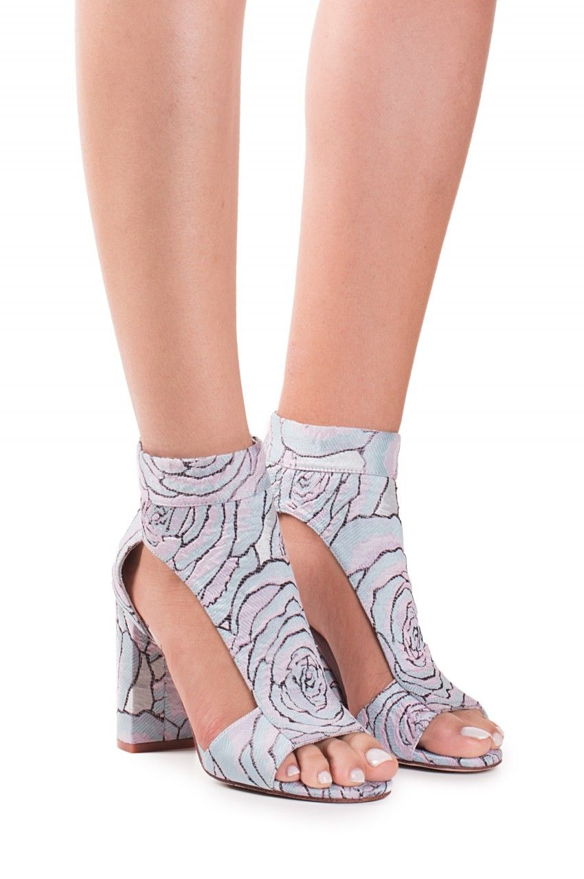 Jeffrey Campbell Shoes LEIGHTON Shop All in Light Blue Floral size 7