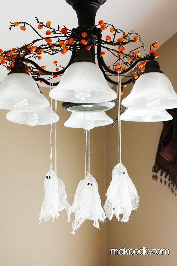 DIY Flying Ghost \u2013 Easy Halloween Party Decor Idea \u0026 Cheap