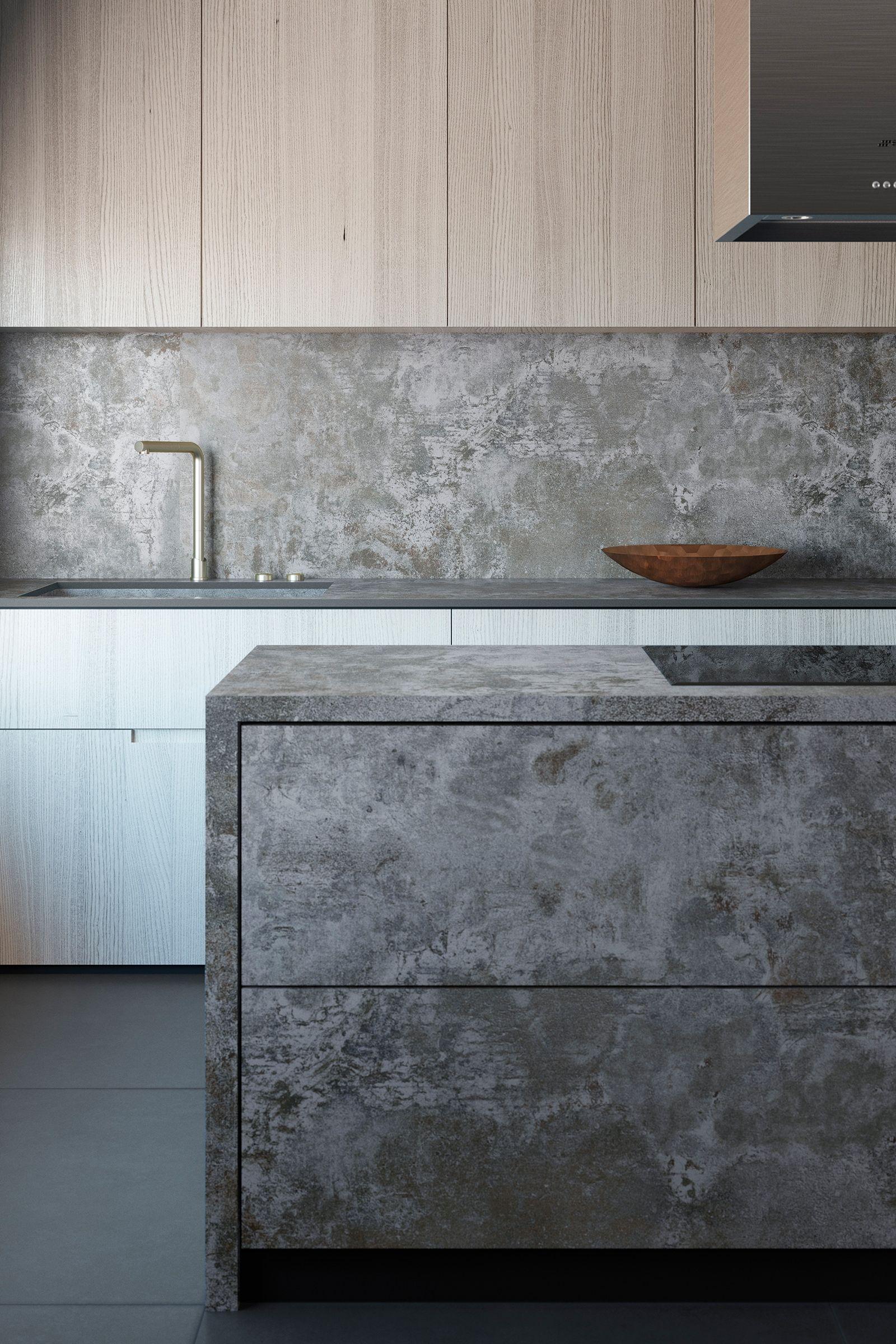 Eleganter Küchenblock