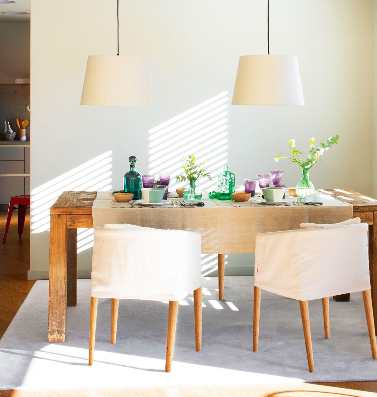 comedor mesa de becara manteles de lino de filocolore y boles de el corte ingls