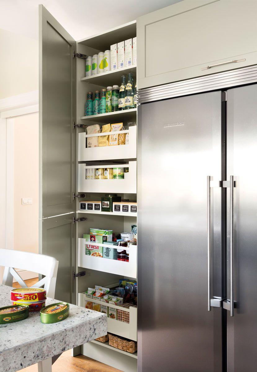 armario-de-despensa-junto-nevera-de-cocina 469096 | ACCESORIOS DE ...