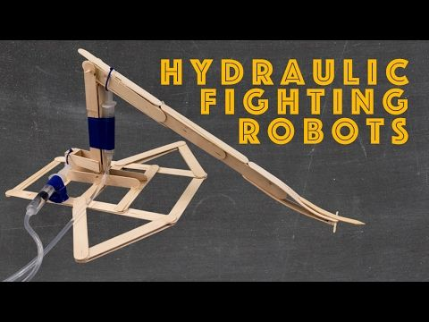 how to make a hydraulic lift with syringes