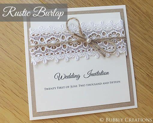 Risultati immagini per wedding invitations shabby chic