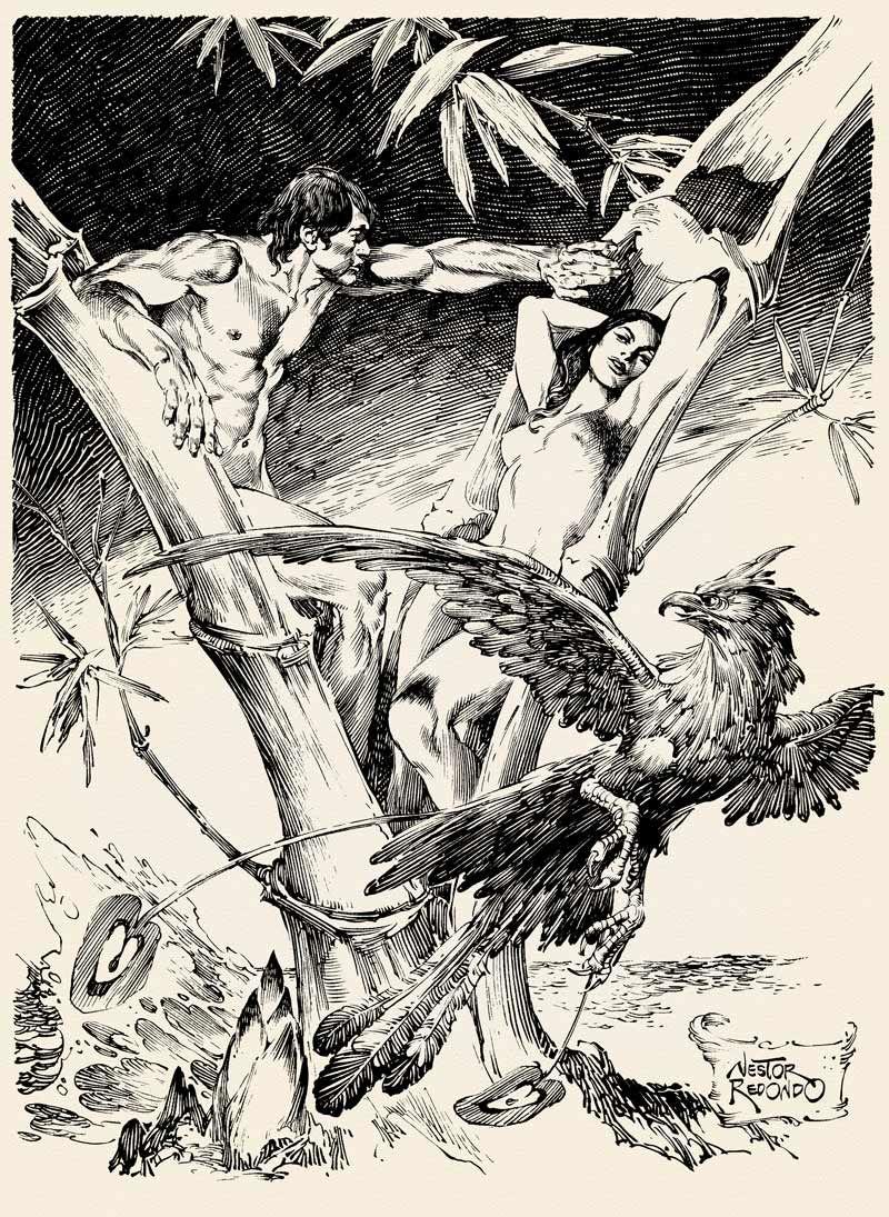"""From Philippine Mythology, """"Malakas at Maganda"""" by Nestor Redondo"""