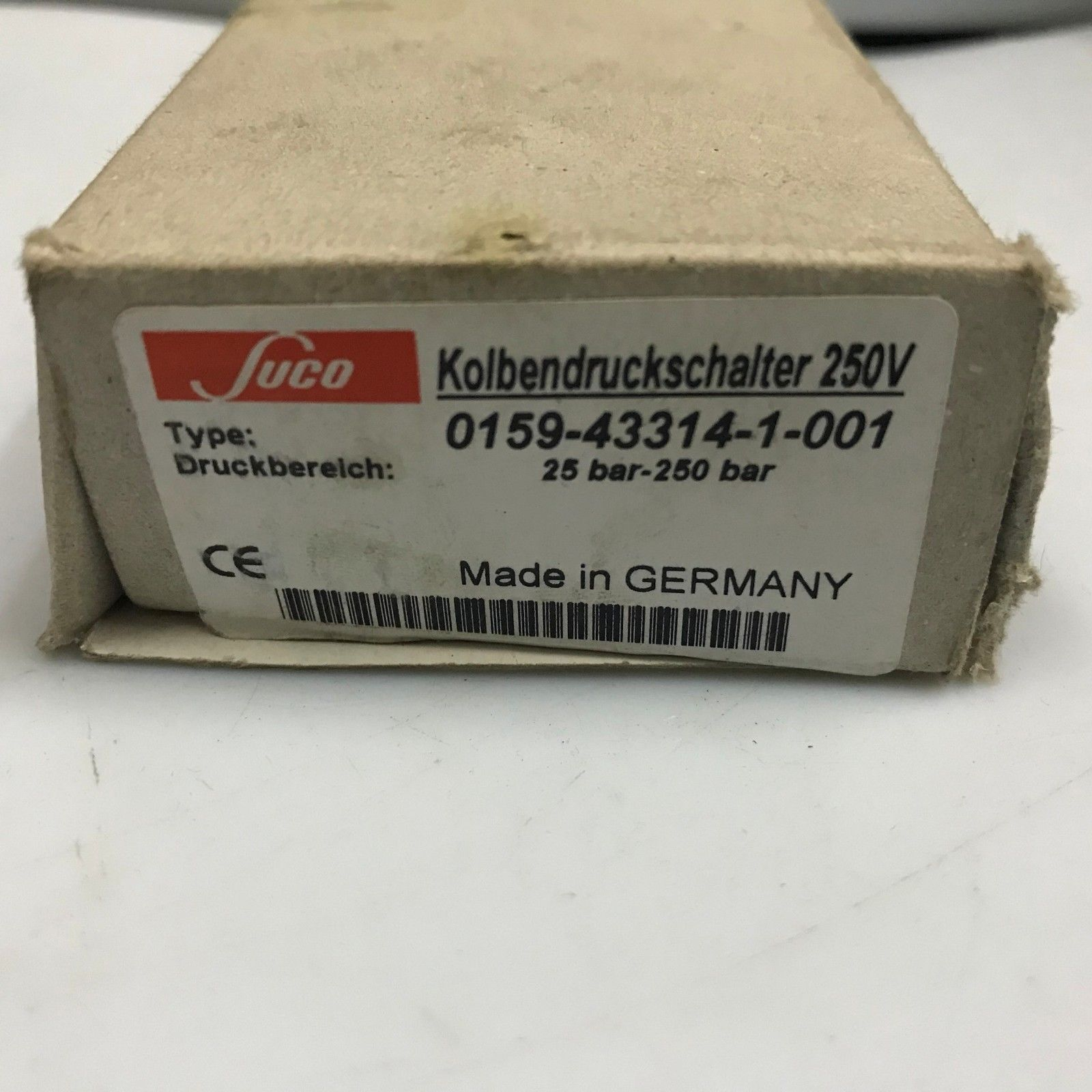 Suco Pressure Switch 25 250 Bar G1 4 0159 43314 1 001 Ebay Link Bar Container