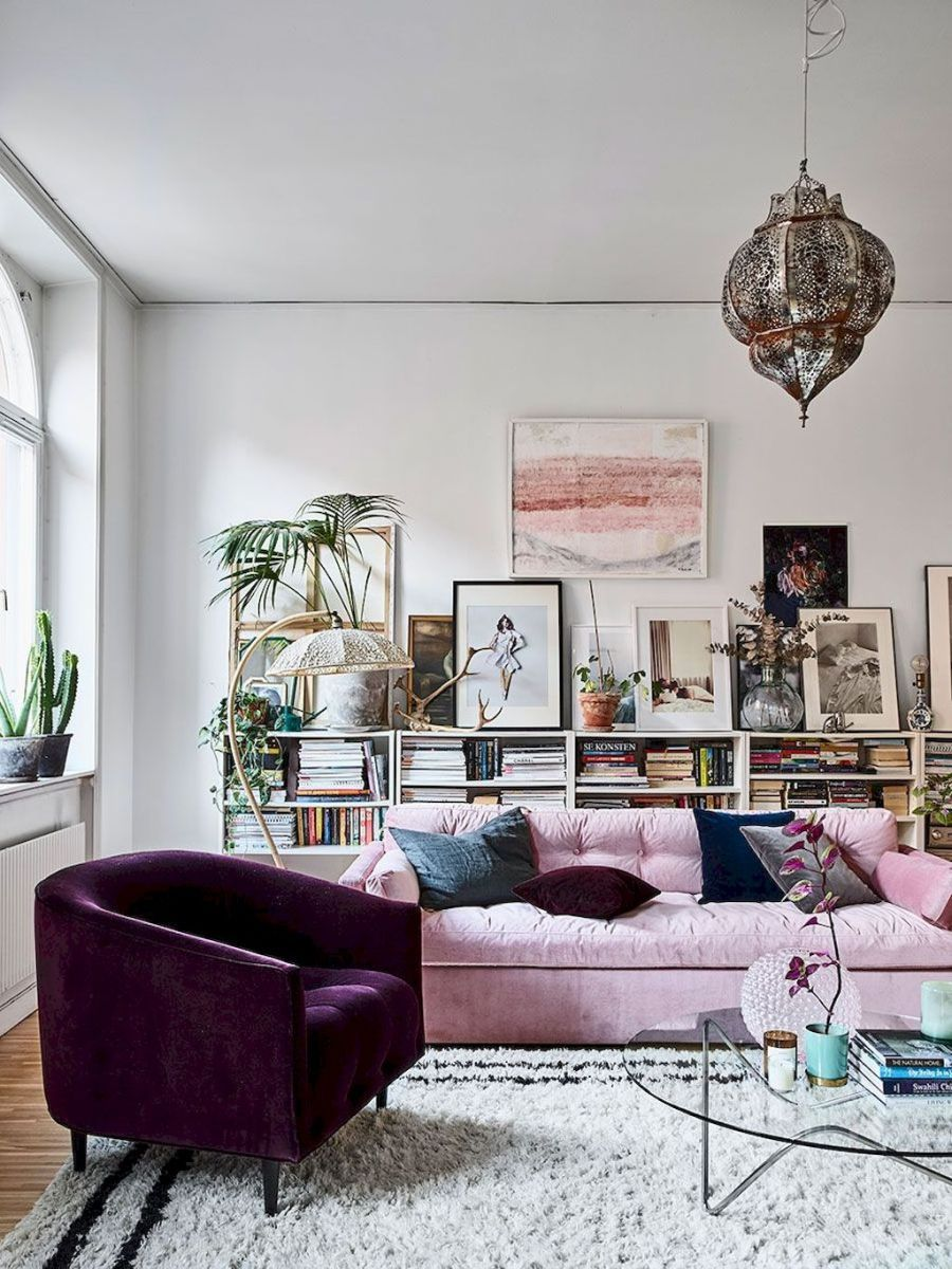 63 Modern Bohemian Living Room Decor Ideas