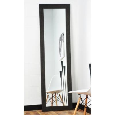 BrandtWorks Modern Scratched Black Full Length Framed