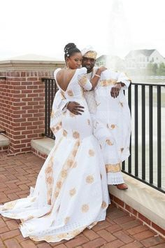 Love the matching attire. African Wedding Gown Gallery ...