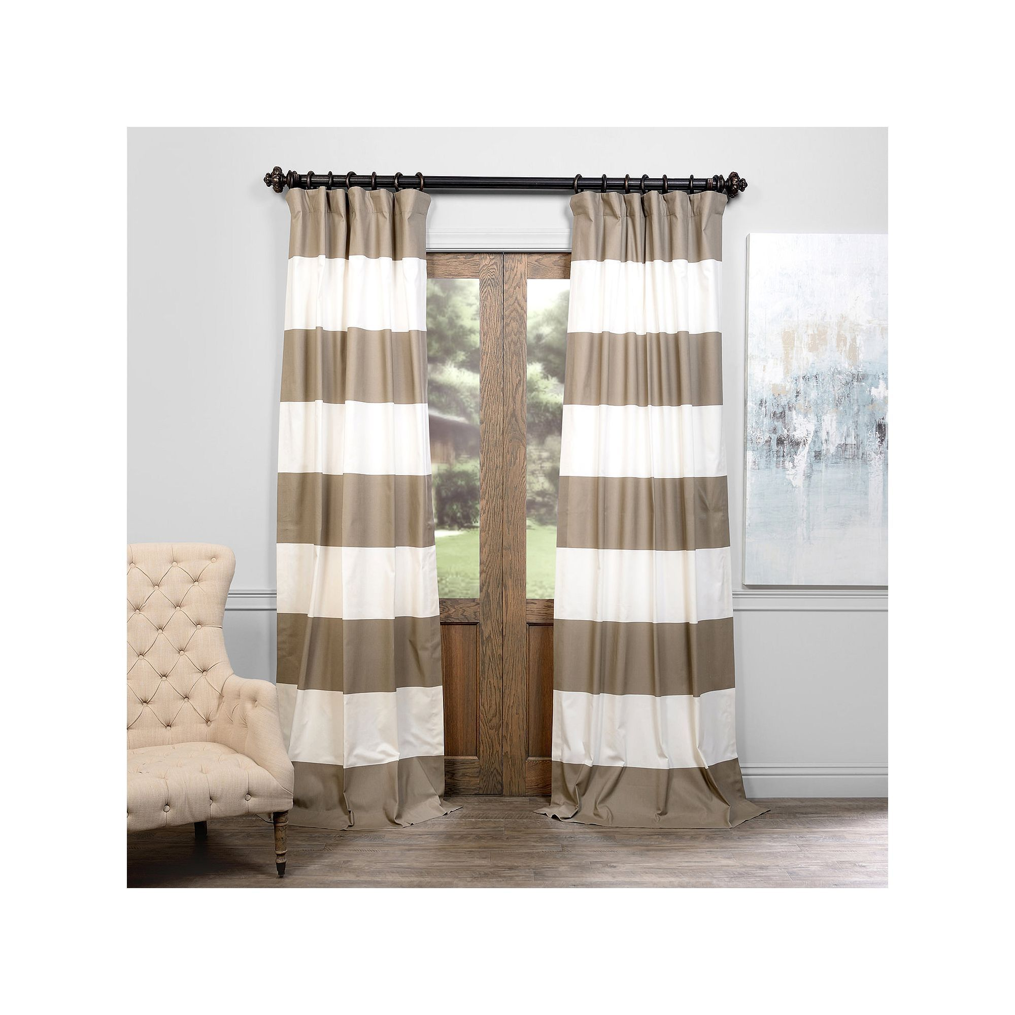 Eff stripe cotton window curtain grey cotton curtains cotton and