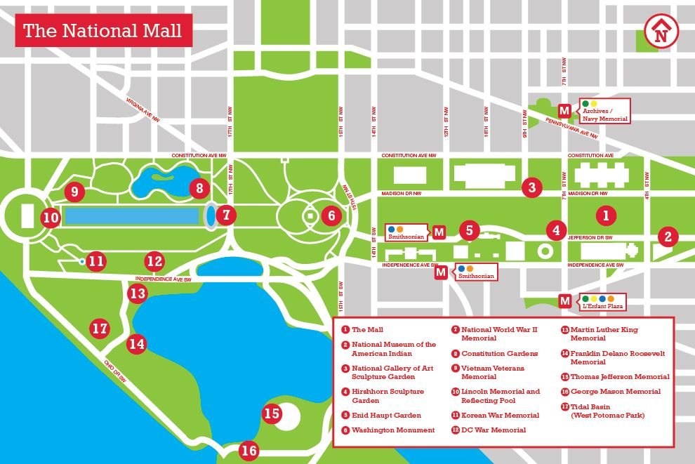 Mall Dc Map.The National Mall Memorial Parks The Landscape Architect S Guide