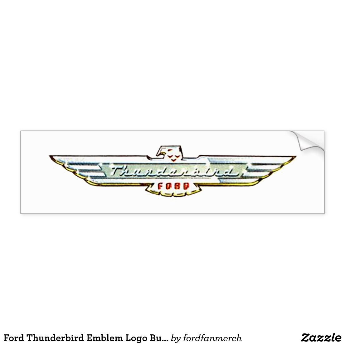 Ford Thunderbird Emblem Logo Bumper Sticker Zazzle Mrtbird Thunderbird Fordclassiccars 1950s Classiccars G Bumper Stickers Emblem Logo Ford Classic Cars [ 1106 x 1106 Pixel ]