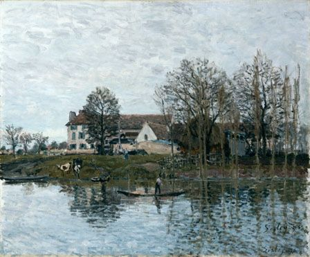 Alfred Sisley: 'The Seine at Port-Marly'
