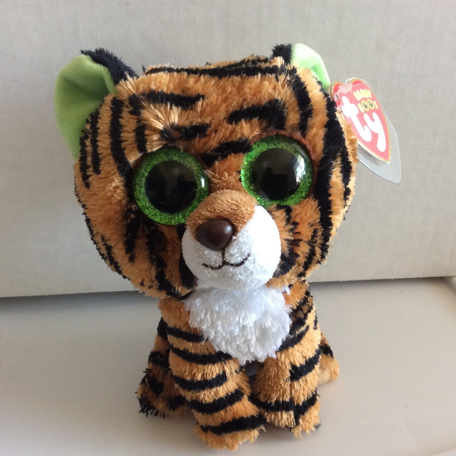 20ca6340930 Current 1628  Ty Beanie Boo Stripes The Tiger Sparkle Eye Version 6 Mwmt -   BUY IT NOW ONLY   23.99 on eBay!