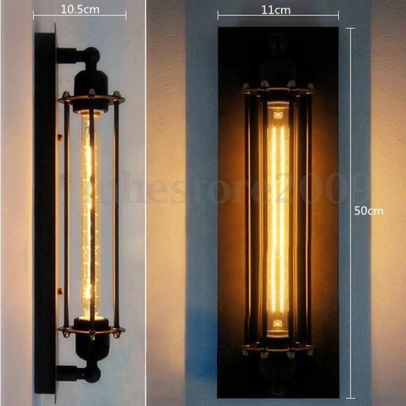 E27 Rétro Applique Murale Spot Abat jour Edison Bulb Lampe Vintage