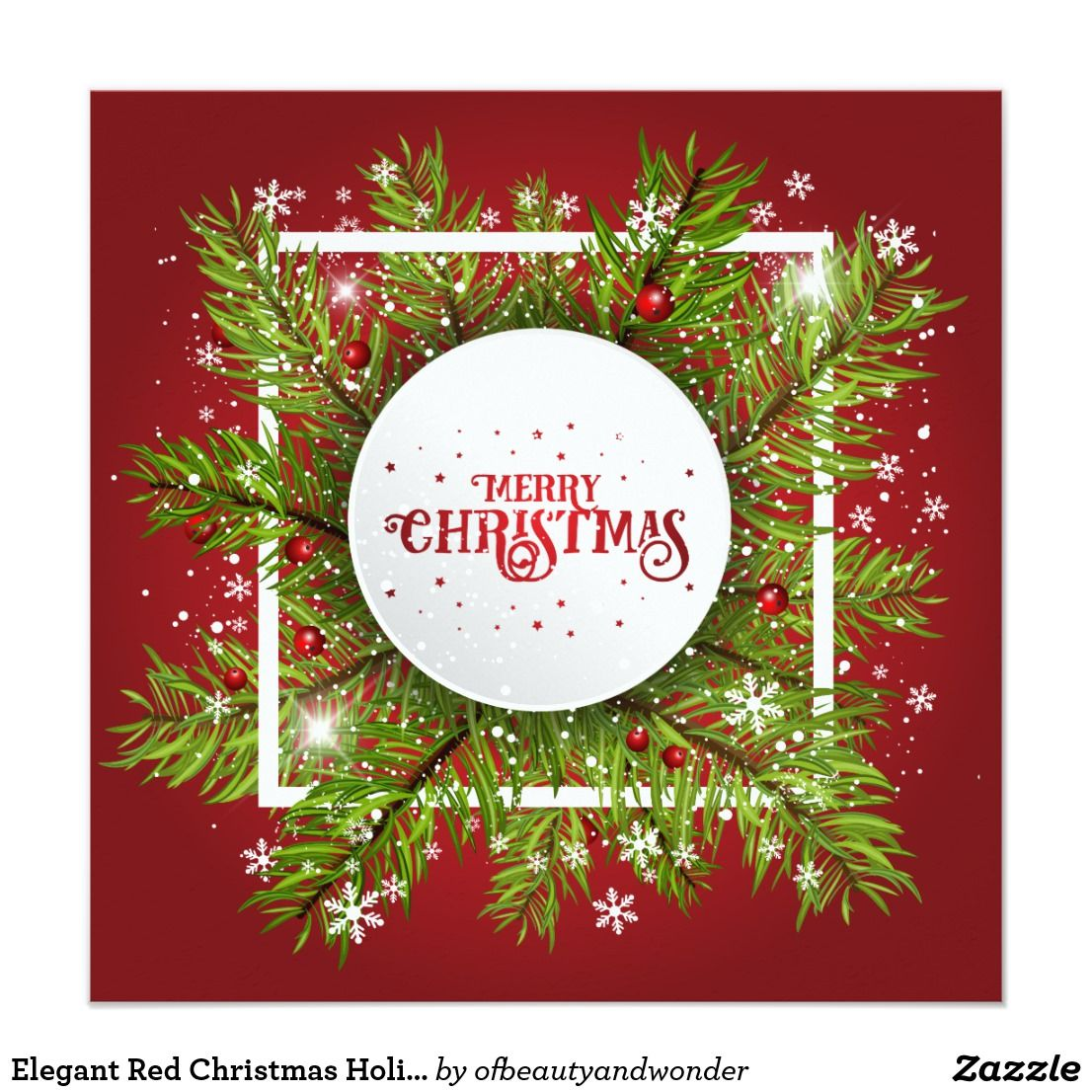 Elegant Red Christmas Holiday Party Invitation Zazzle Com In 2020 Christmas Background Christmas Card Crafts Holiday Party Invitations
