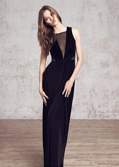 Langes Samtkleid | inspo | Pinterest | Samtkleid, Abendkleider und Samt
