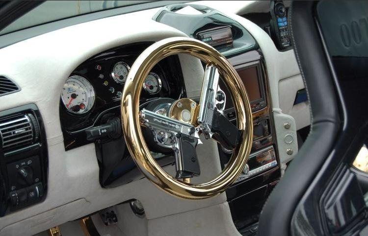STRANGE AUTO ACCESSORIES CUSTOM GOLD STEERING WHEEL