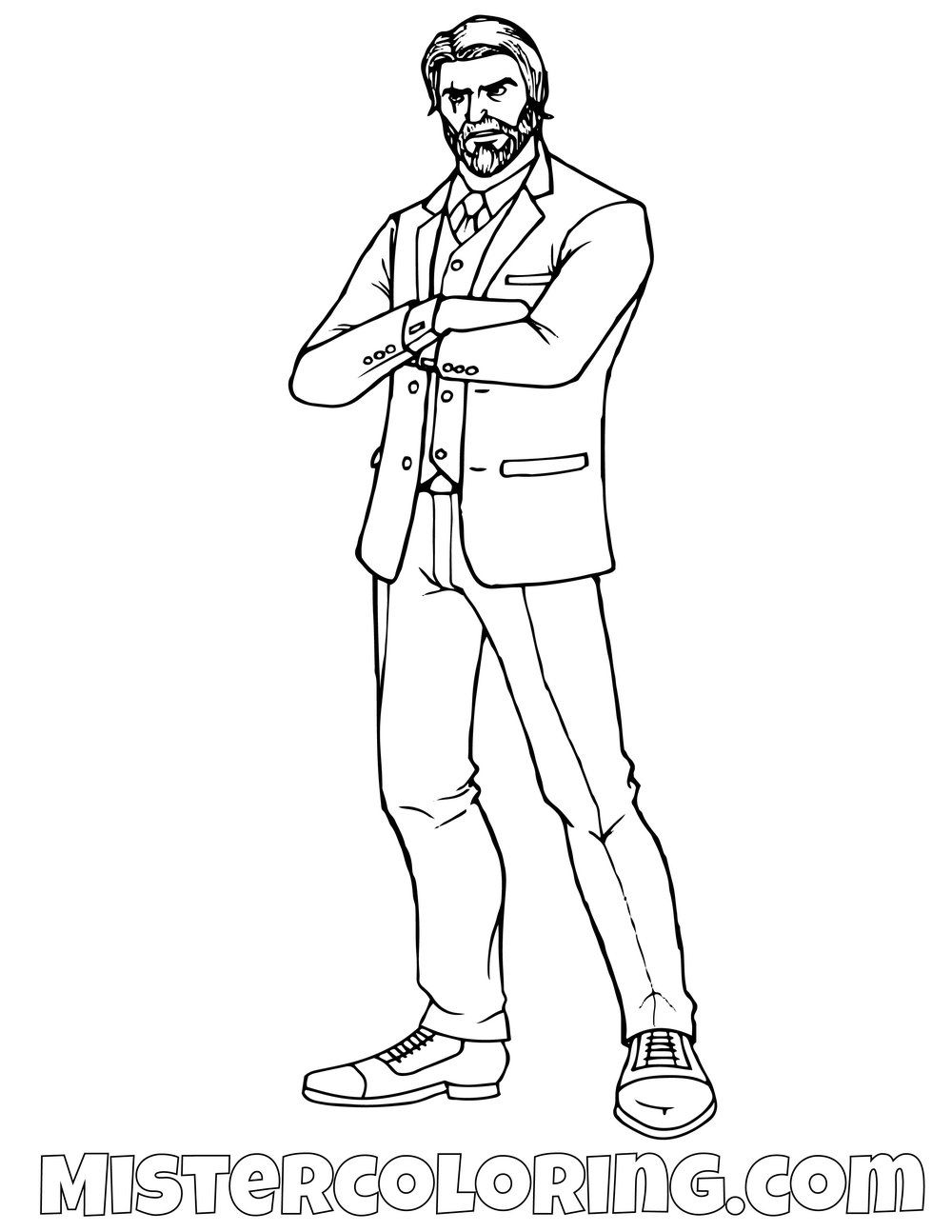 Free John Wick Fortnite Coloring Page For Kids With Images