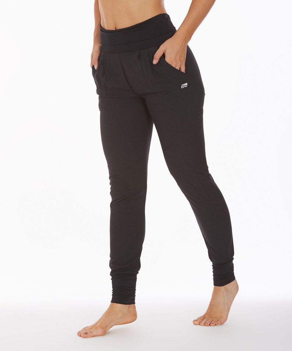 33ebb6a7df519 Another great find on #zulily! Black Odyssey Woven Joggers by Marika Tek # zulilyfinds