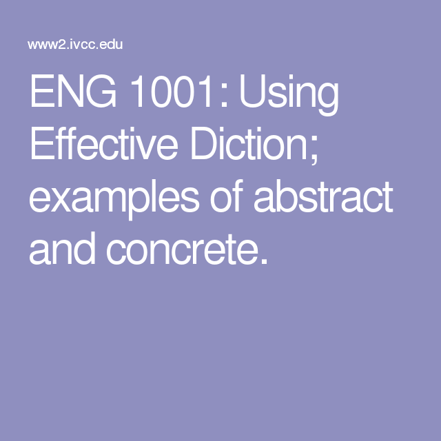 concrete diction examples