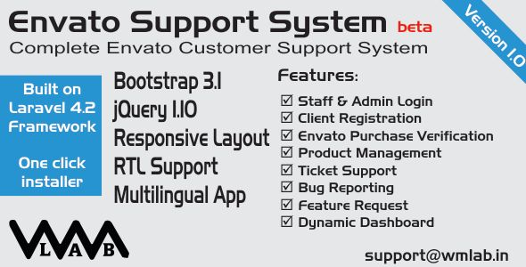 Download Free Envato Support System # bugs #codecanyon #envato