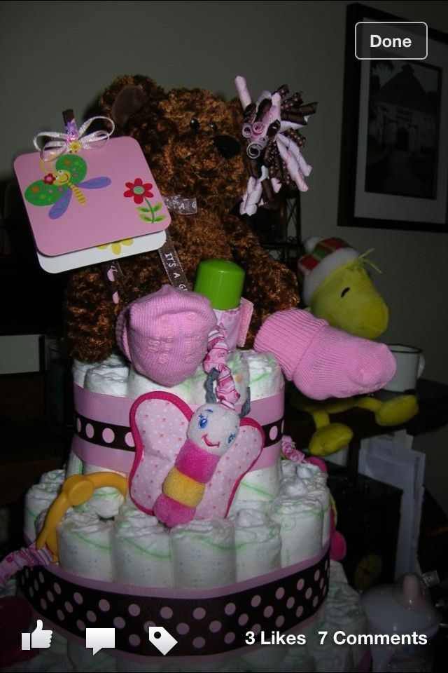 My first diaper cake.
