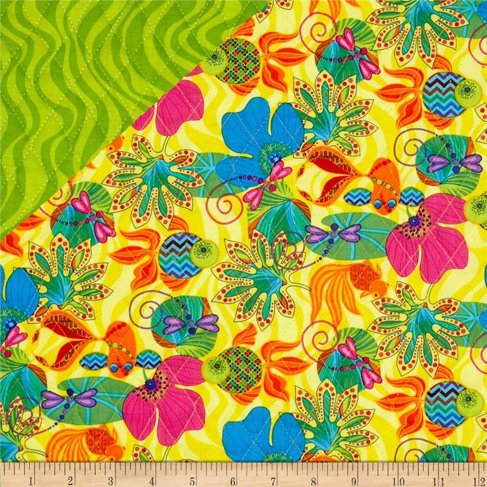 Calypso Goldfish Double Sided Yellow   Goldfish, Orange background ... : double sided quilt - Adamdwight.com