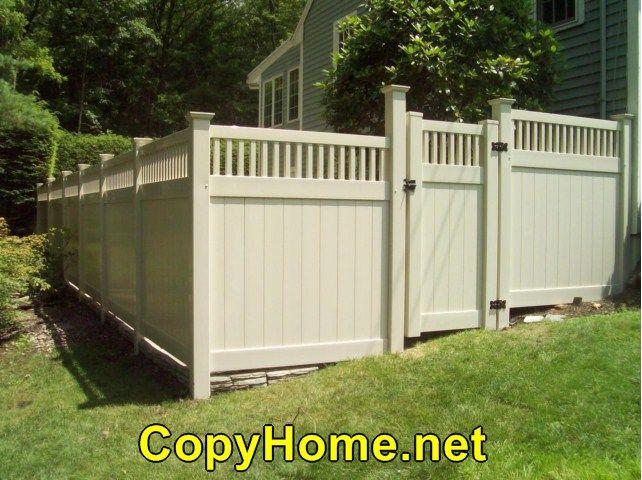 Vinyl Fencing Tulsa Home Designs And Ideas Portal Vinyl Fence Backyard Fences Fence Styles