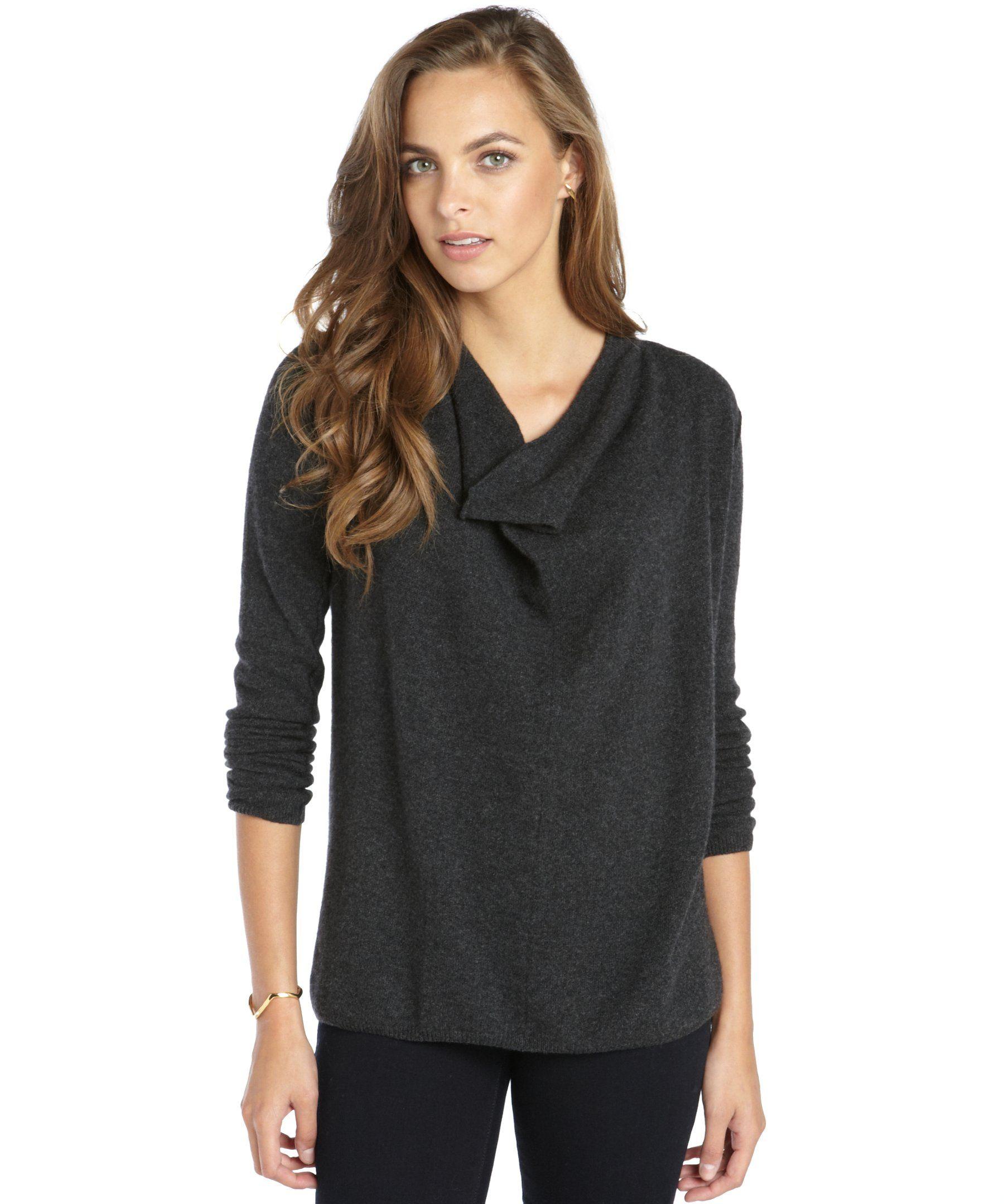 Wyatt dark grey cowlneck cashmere sweater | Christmas Wishlist ...