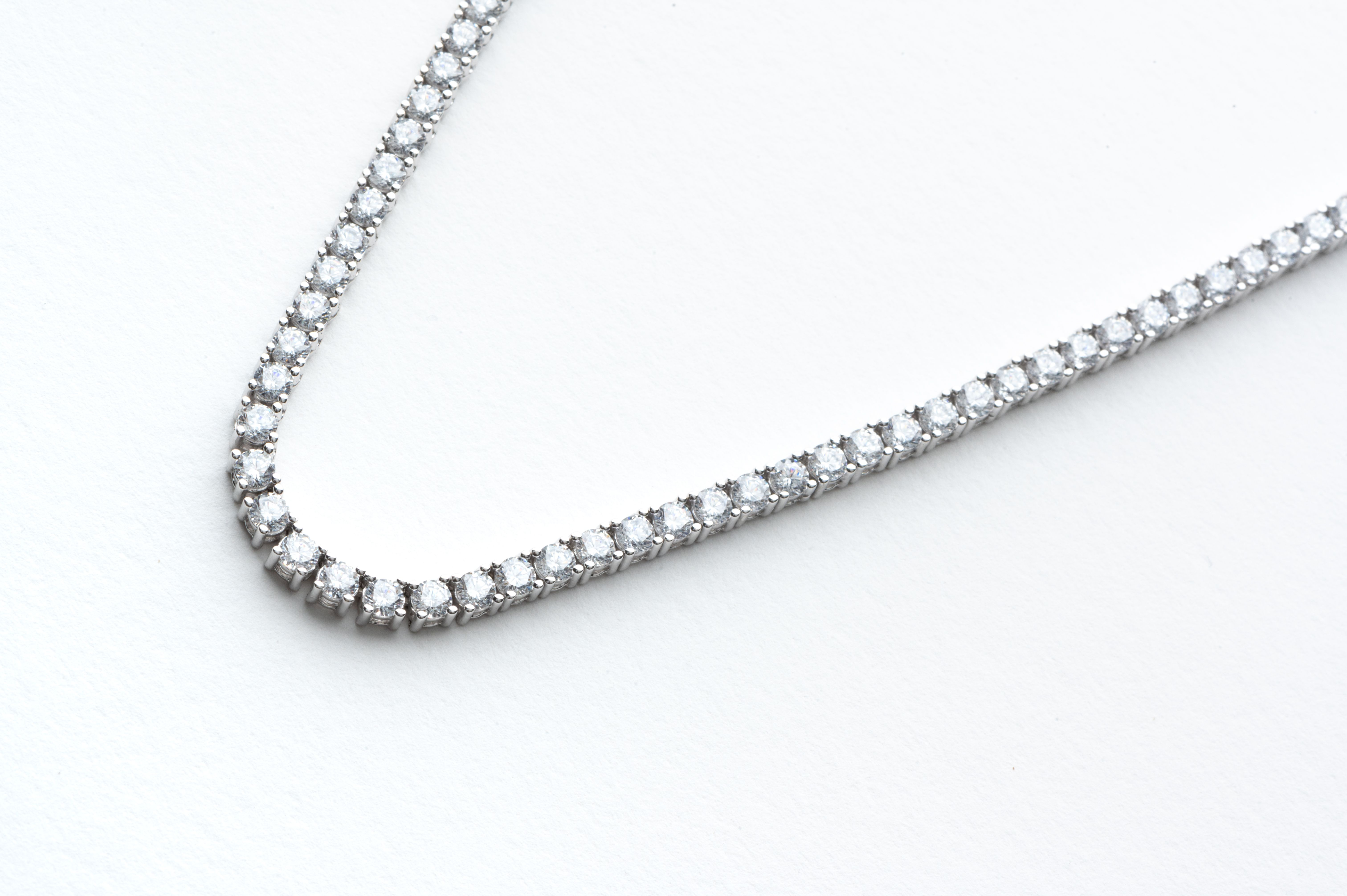 13 Carat G H Si Diamond Tennis Necklace 14k White Gold Diamond Etsy White Gold Necklace Diamond Beautiful Jewelry Diamonds Gold Diamond Necklace