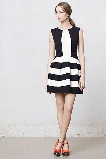 5dbe4b924e ... black and white stripes. Strata Dress  anthropologie  AnthroFave