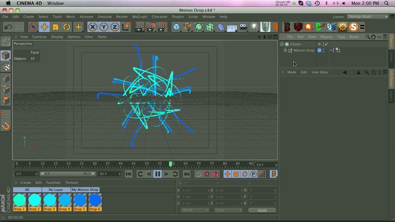 Cinema 4D - How to Use Motion Drop Tutorial | #CINEMA4D