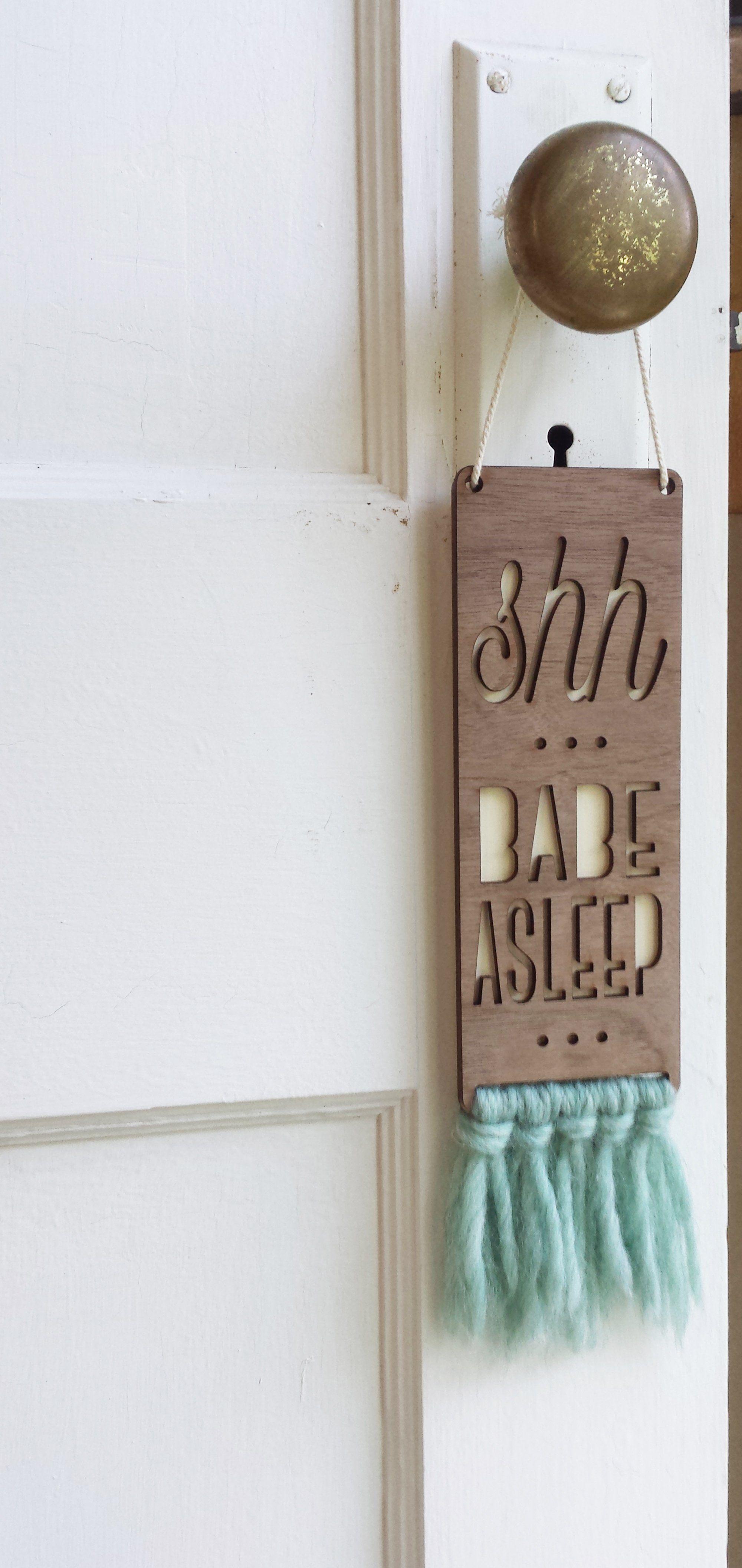 Babe Asleep Baby Door Sign Baby Door Signs Door Signs Diy Baby Door