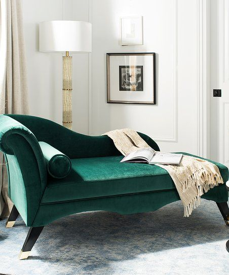 Safavieh Emerald Caiden Velvet Chaise Zulily Bedroom