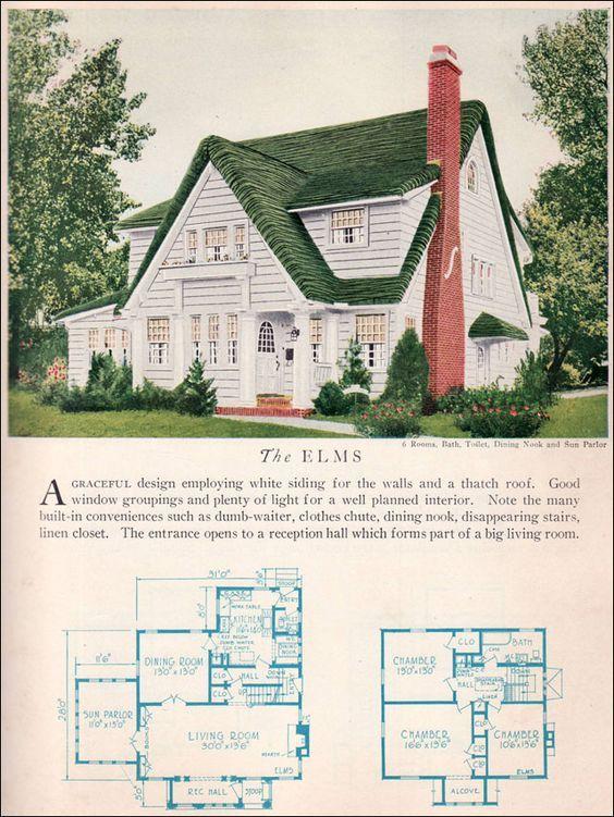 house - Vintage Storybook House Plans