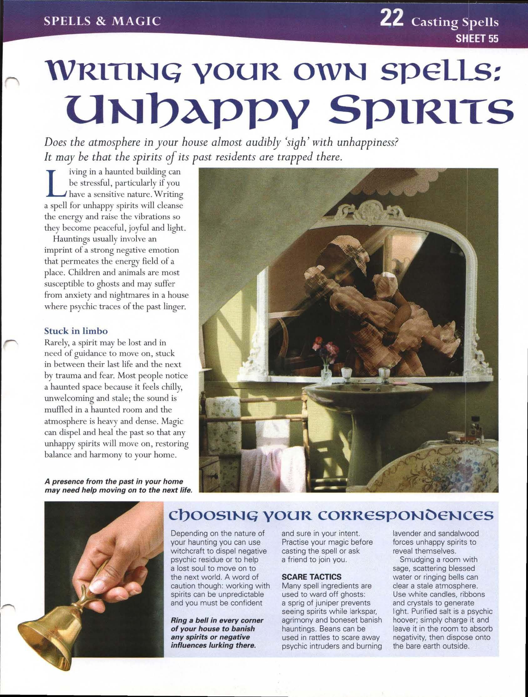Writing Your Own Spells: Unhappy Spirits