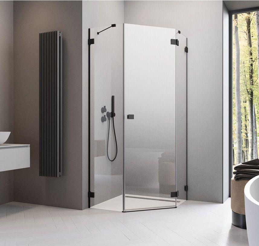 Pieciokatna Kabina Prysznicowa Radaway Essenza Pro Black Ptj Z Czarnymi Profilami Radaway Showersystems Prysznicowe Shower Cabin Bathroom Bathroom Decor