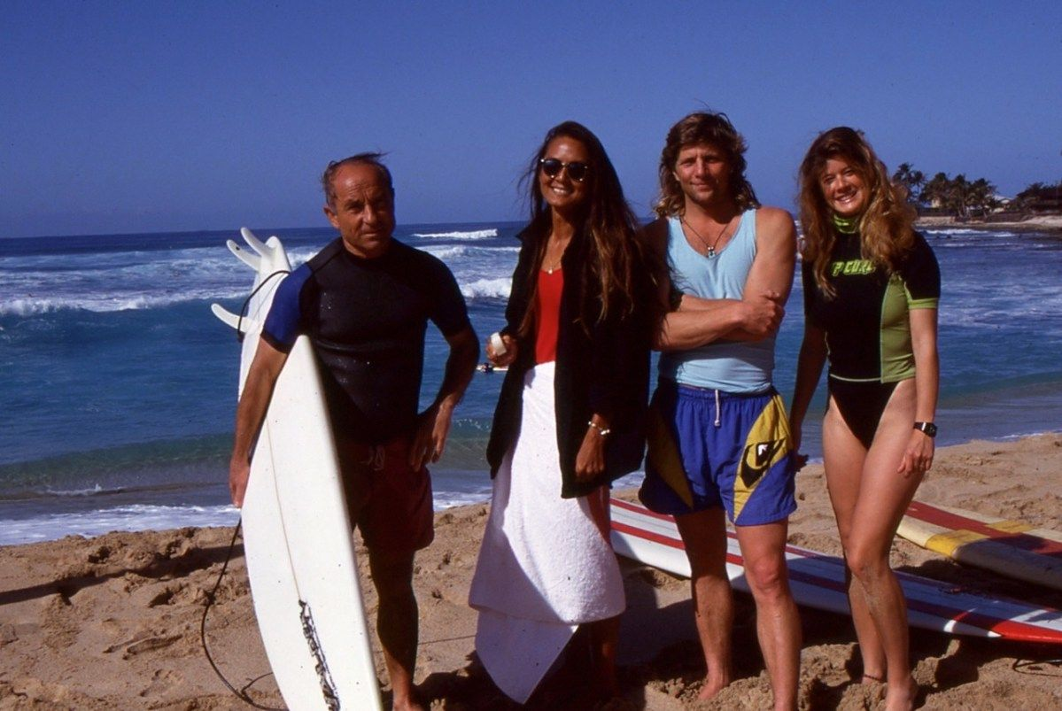 Patagonia's founder Yvon Chouinard and some very fancy folks in Hawaii, early 90s