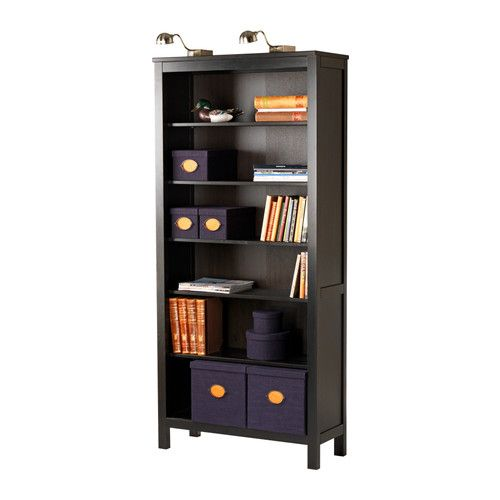 HEMNES Boekenkast - zwartbruin - IKEA - new home | Pinterest ...
