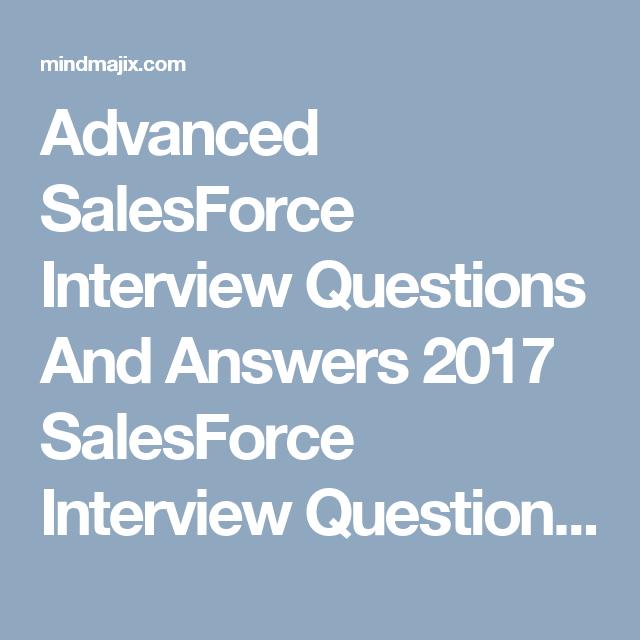 Salesforce Interview Questions | SalesForce Interview